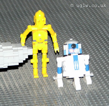C3PO and R2D2 make an appearance at LEGO Star Wars Miniland Experience, Legoland Windsor