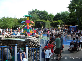 The original Duplo Splash Safari at Legoland Windsor on a hot summer day