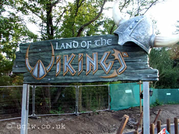 Legoland Windsor Vikings' River Splash ride - the sign at the main entrance which is down near the Spinning Spider