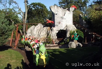 Dragon's Apprentice roller coaster ride at Legoland Windsor