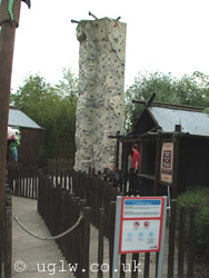 Climbing Wall attraction at Legoland Windsor
