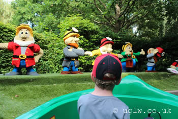 Fairy Tale Brook ride at Legoland Windsor - the seven dwarfs